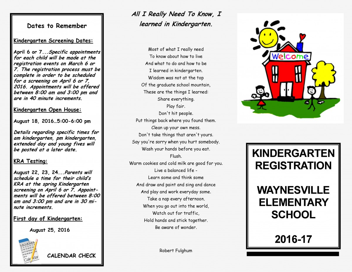 image of an elementary newsletter