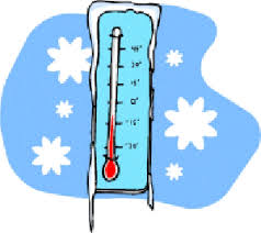 image of a thermometer in cold weather