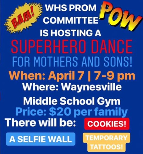 superhero dance poster with details listed on it