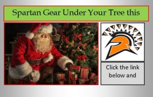 image with santa and a spartan head