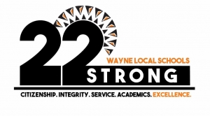 22 strong logo with spartan head