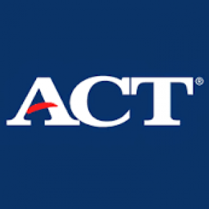 blue background with ACT letters