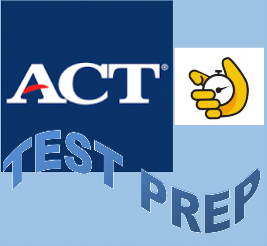 image of ACT Test Prep with stopwatch