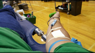 arm giving blood