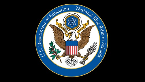 National Blue riddon badge