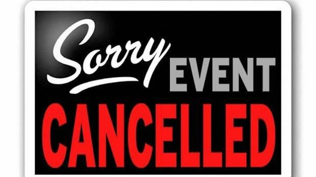 Event cancelled theater sign