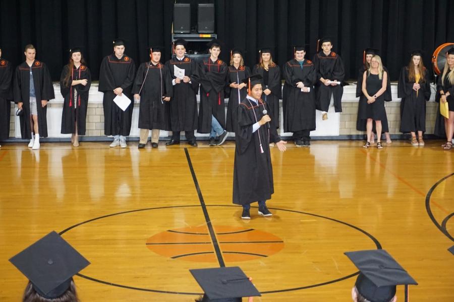 graduates in a circle