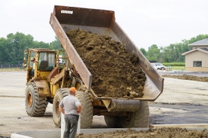 dump truck filled with dirt