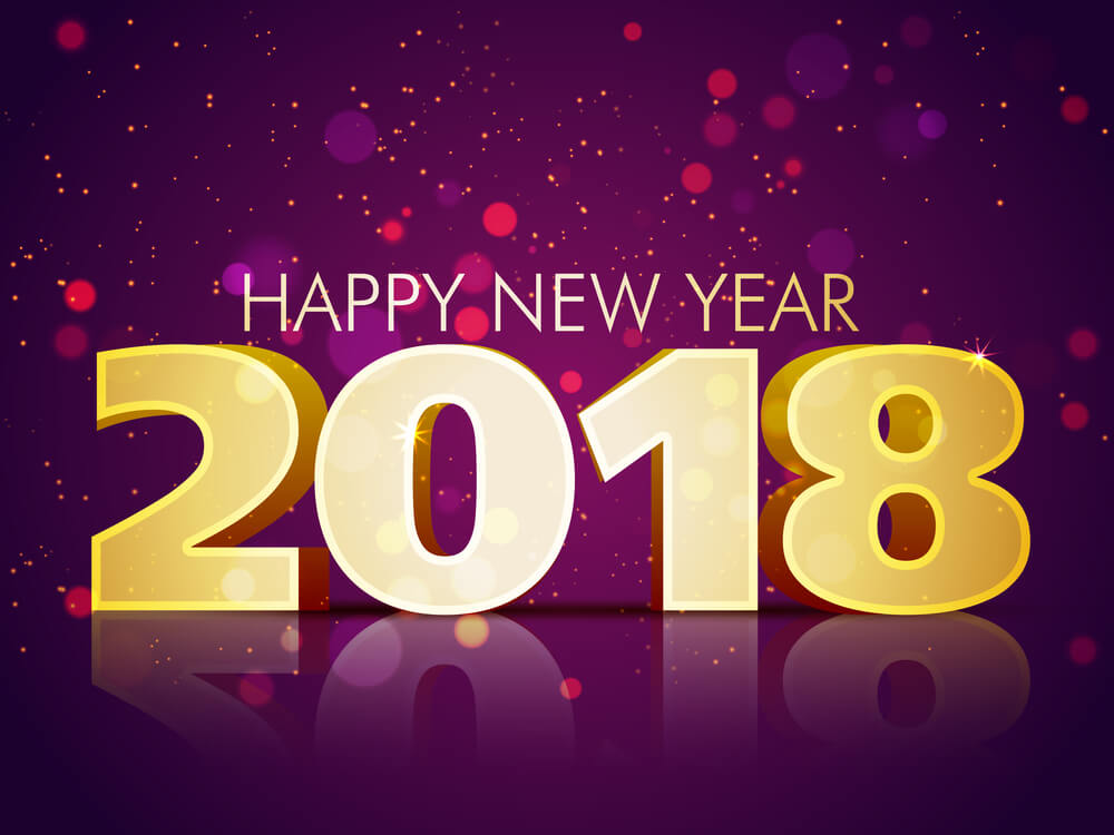 Happy 2018 purple image