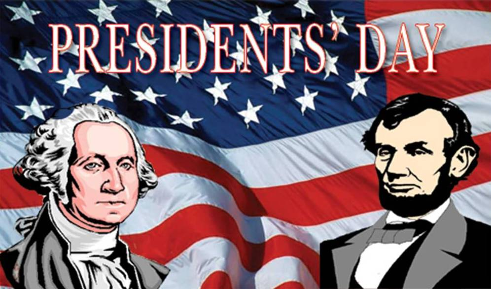flag with george washington and abraham lincoln