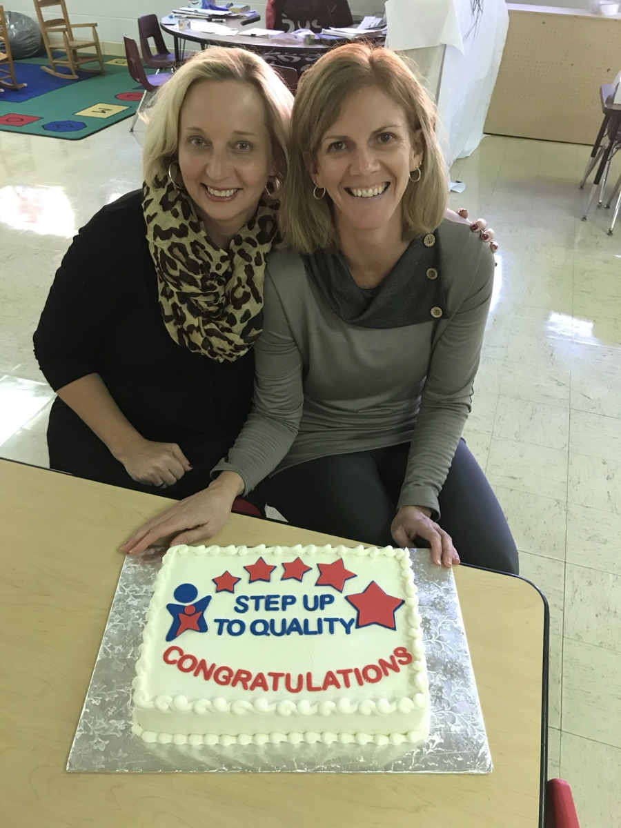 teachers with cake