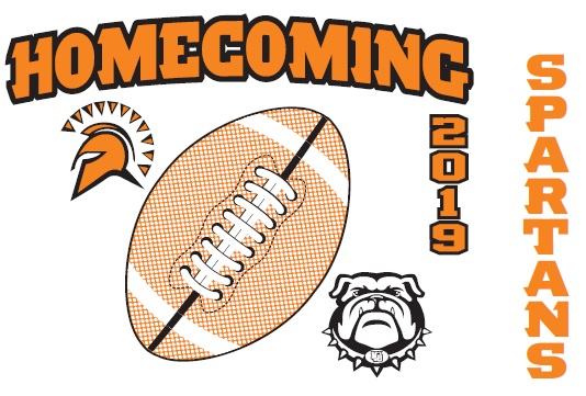 homecoming word with orange image