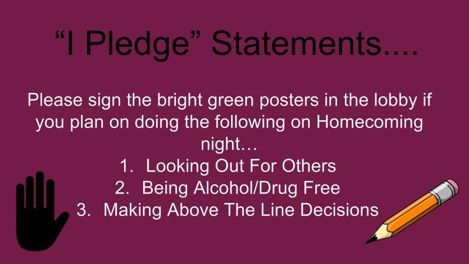 I pledge statement image