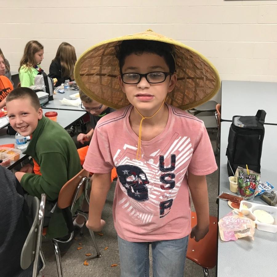 girl in funky hat