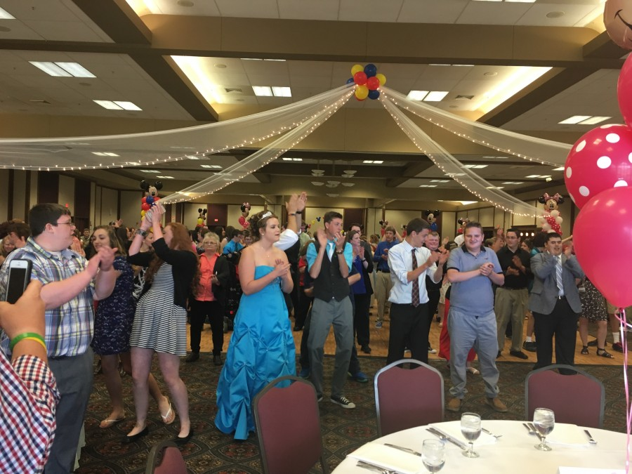 image of people at a prom dance