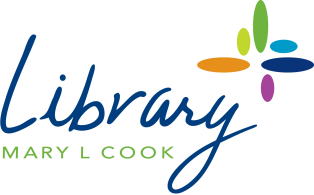 colorful library logo