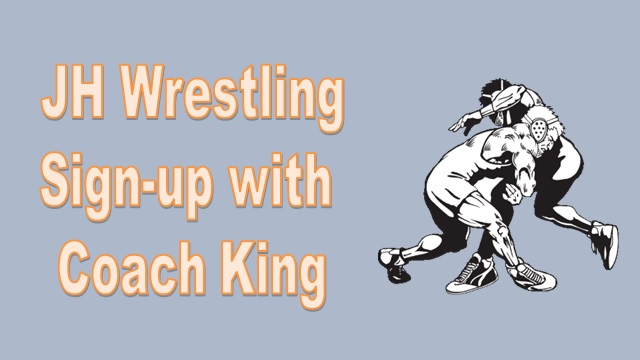 gray background with two wrestlers