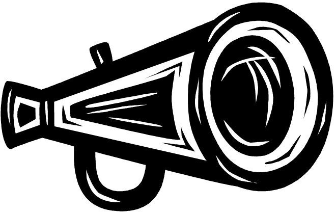 black megaphone for cheerleading