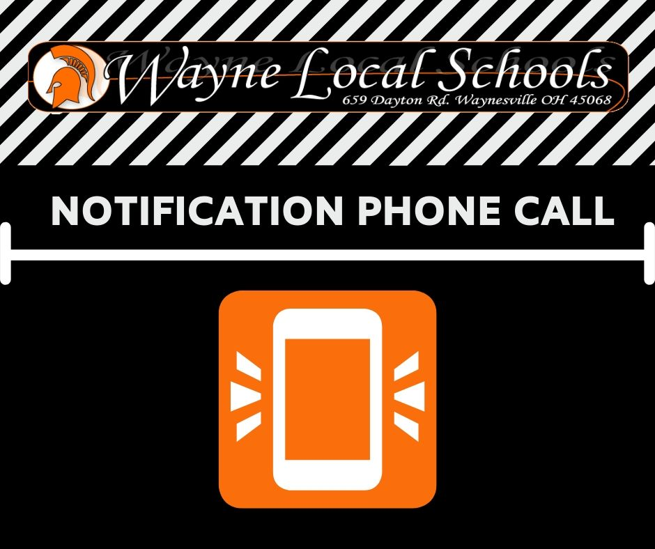 black with orange cell phone icon