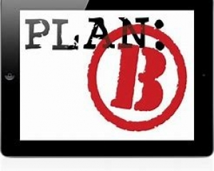 plan B with a circle around B