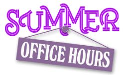 summer hours in purple