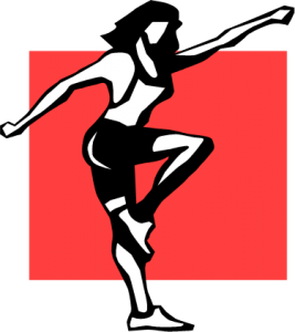 dancer image with red background