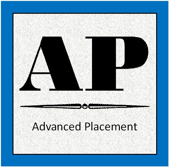 advanced placement image with blue border