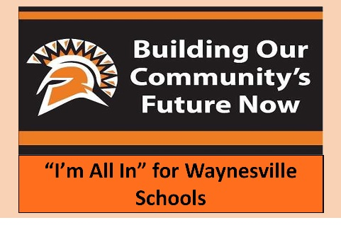 all in for waynesville schools sign