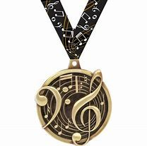 medal with musical notes