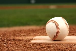 baseball on a home plate
