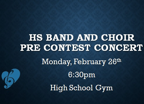 blue background with band concert announcement