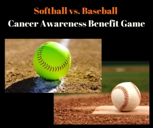 images of baseball and softball
