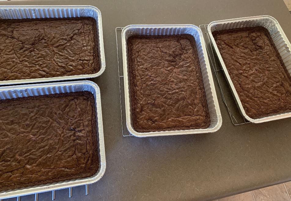 trays of brownies