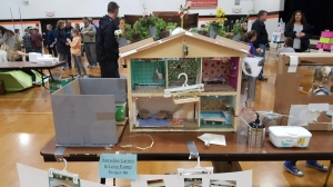 doll house made of recycled material