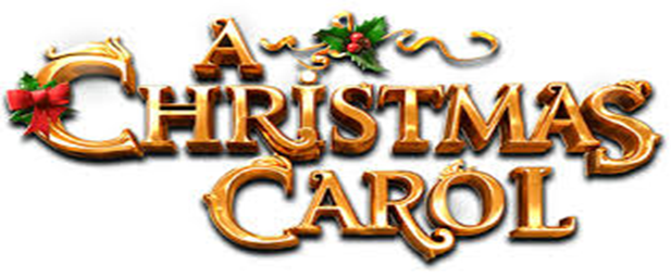 a christmas carol words with poinsetta leaves
