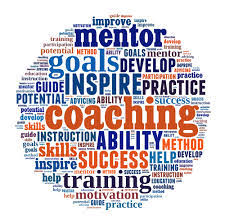circular image with powerful words regarding being a coach