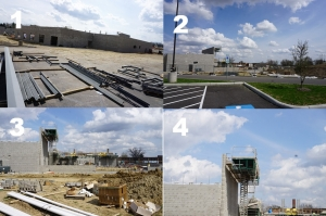 collage images of construction