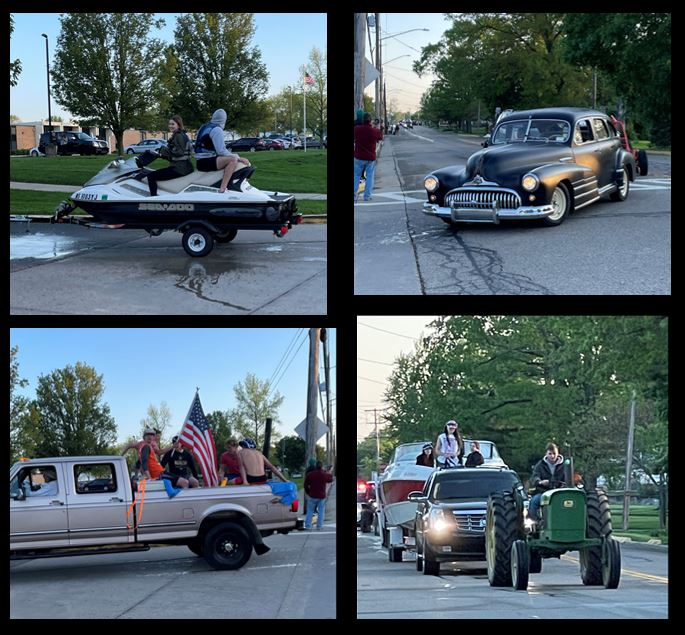 senior parade collage