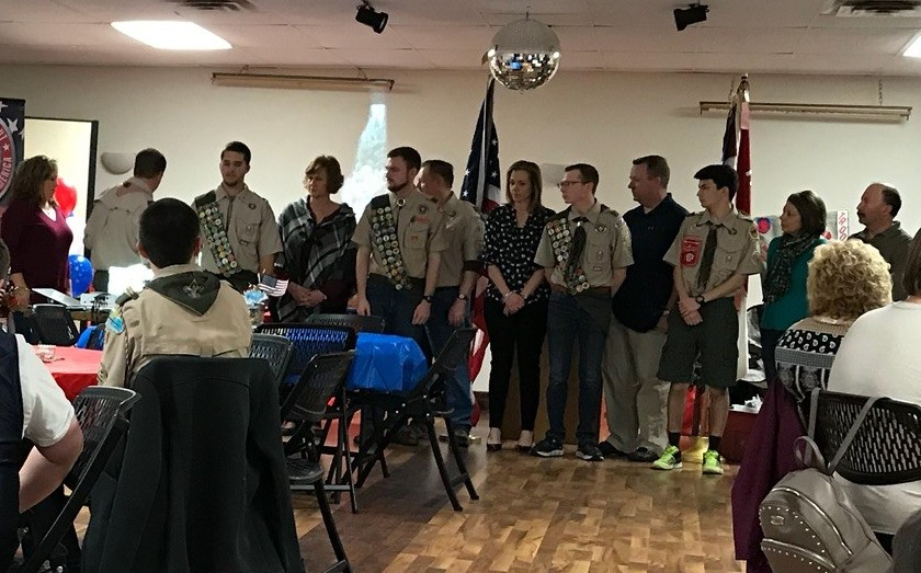 eagle scouts receiving awards