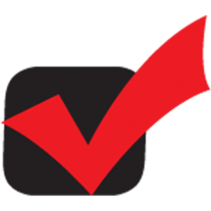 black and red check mark