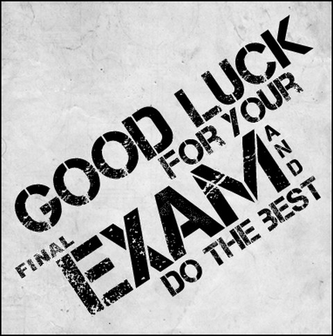 image wishing good luck during exams