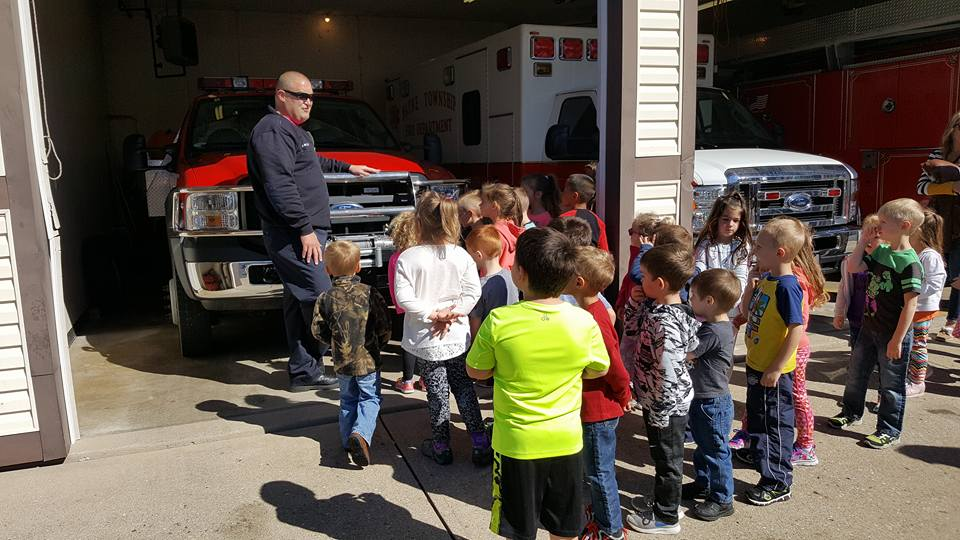 fire station visit with youngsters