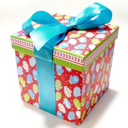 gift box with a big ribbon