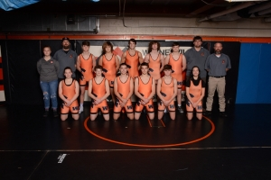 wrestling team wearing singlets