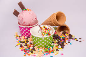 ice cream bowls with toppings