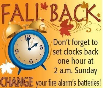 fall back with alarm clock