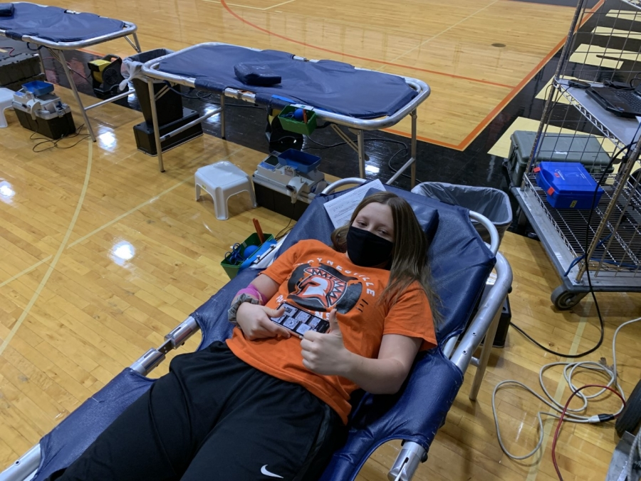 person giving blood
