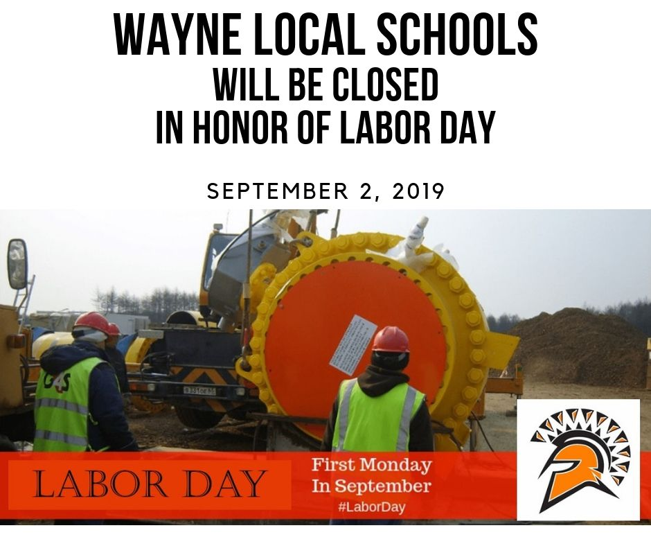 Labor Day is Monday, September 2nd