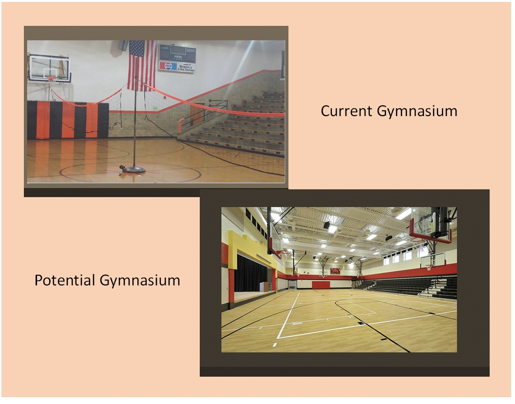 gymnasium before and after