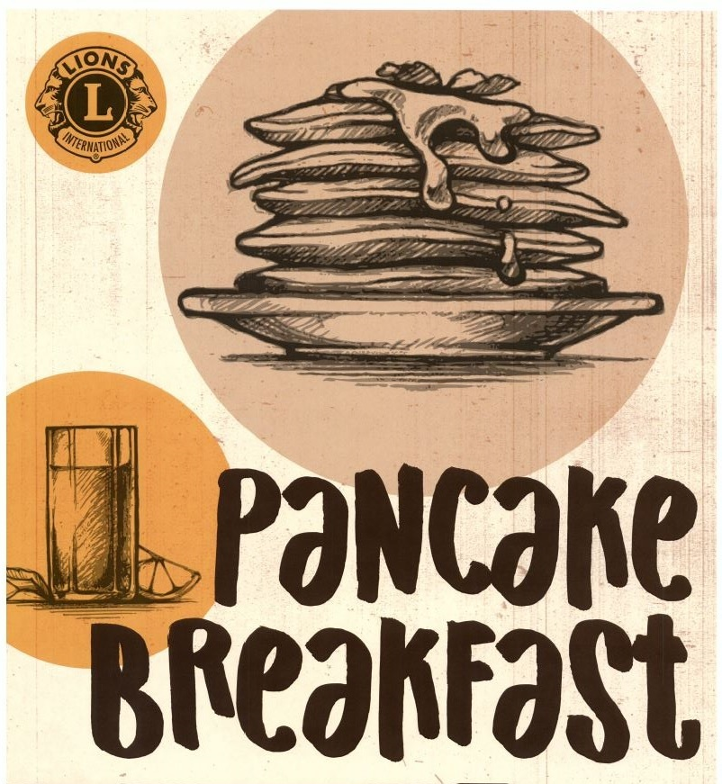 stack of pancakes with writing